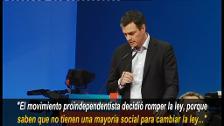 Sánchez dice que el secesionismo amenaza el proyecto europeo