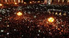 Miles de armenios salen a la calle en contra de la candidatura del expresidente