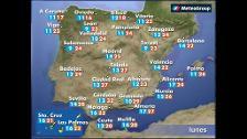 Previsión del tiempo para este lunes 23 de abril