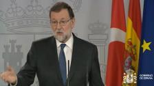 """Rajoy pide recuperar """"la cordura"""" en Cataluña"""