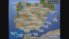 Previsión del tiempo para este miércoles 25 de abril