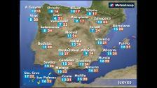 Previsión del tiempo para este jueves 26 de abril