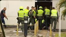 Disparan y detienen al atracador de un banco en Cali, Colombia