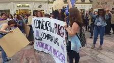 Concentración en Málaga en protesta por la sentencia de La Manada