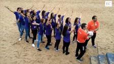 Las campeonas del Mavi presumen de Copa en Gijón