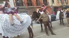 Acto de bendición del caballo romero en Andújar