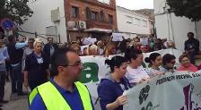 Los vecinos del Tomillo cortan la circunvalación norte de Jaén