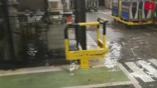 Inundación en la factoría de Renault en Valladolid a causa de la tormenta